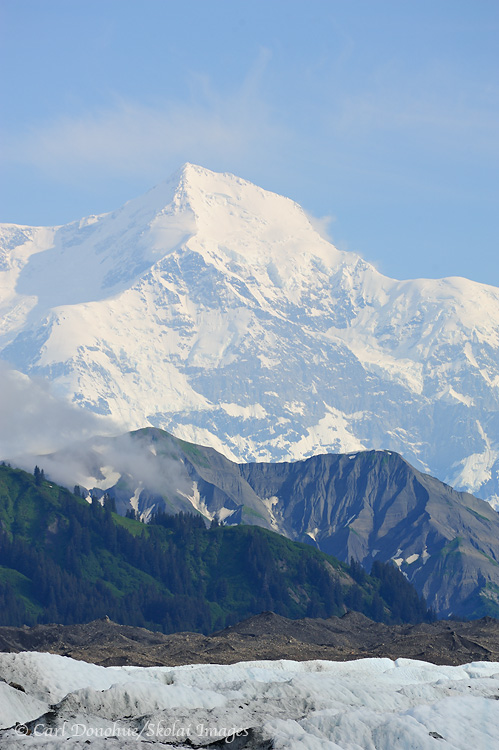 Vertical photo of Mt. St. Elias and Malaspina Glacier.