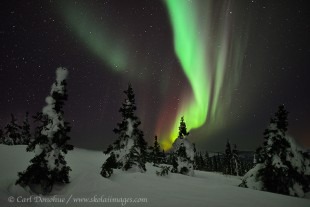 Colorful northern lights photo