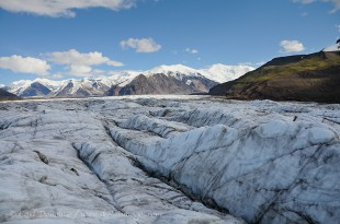 A photo of Russell Glacier and Mt. Bona in Wrangell - St. Elias National Park and Preserve, Alaska.