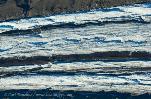 Aerial photo of the Gates Glacier in Wrangell - St. Elias National Park and Preserve, Alaska.