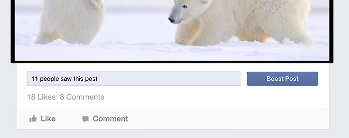 Metrics from a post on Facebook